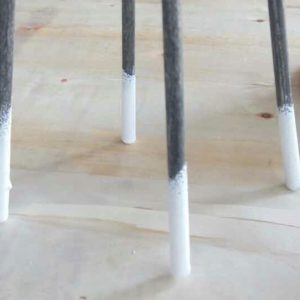 Four Point Wire Bar Chairs Plastic Coated Leg Tips